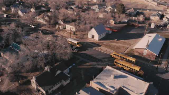 run-down residential district drone point of view in grand junction colorado - american culture stock videos & royalty-free footage