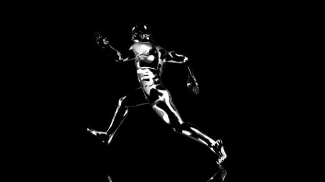 stockvideo's en b-roll-footage met 3d runner man - recordbrekend