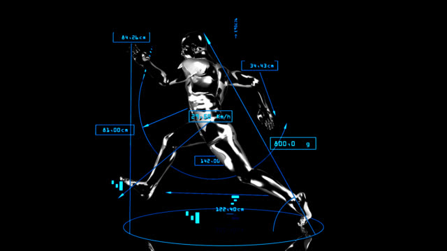 3d runner man with technical data - record breaking stock videos & royalty-free footage