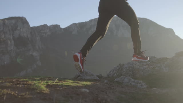 runner on the move - high up stock videos & royalty-free footage