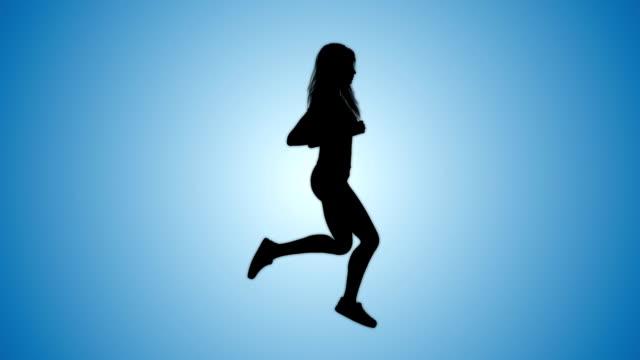 Runner outdoors animation