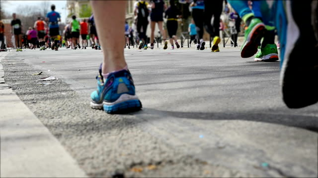 Runners legs in slow motion.