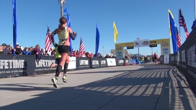 Runners sprint final yards of NJ Marathon on boardwalk