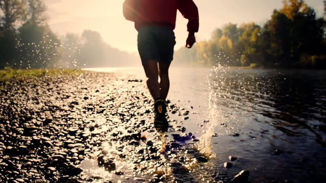 HD CRANE: Running Along The River