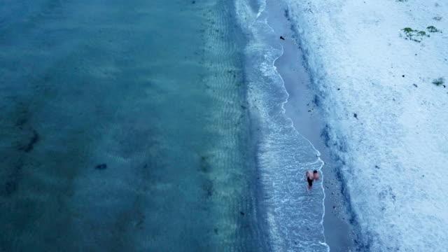 stockvideo's en b-roll-footage met hardlopen op het strand - denemarken
