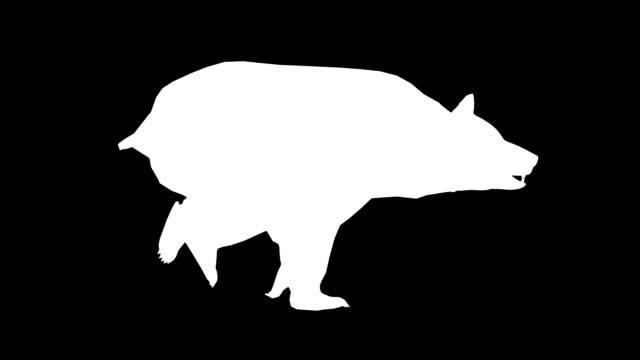 vídeos y material grabado en eventos de stock de correr bear (en bucle) - pata com garras