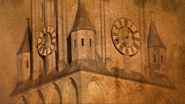 tl / running church clock - roman numeral stock videos & royalty-free footage