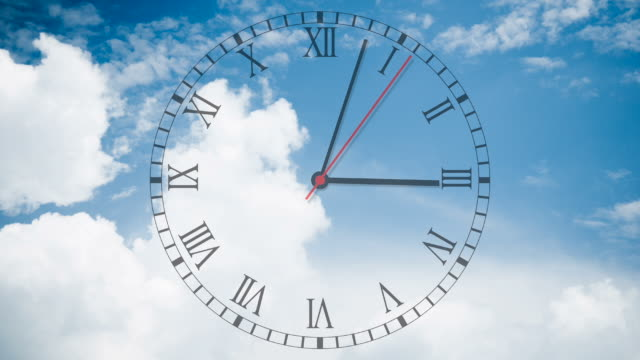 Running clock with cloudscape