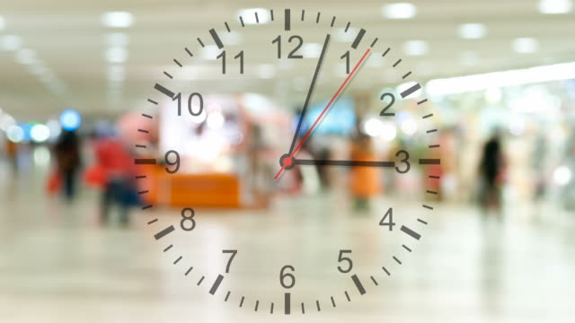 running clock with pedestrian traffic - time stock videos & royalty-free footage