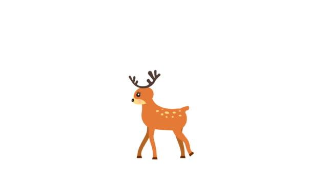 Running deer walking animation with optional luma matte. Alpha Luma Matte included. 4k video