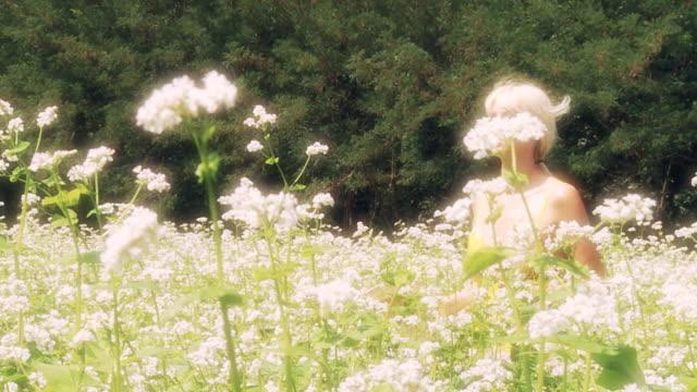 HD SLOW-MOTION: Running In A Buckwheat Field