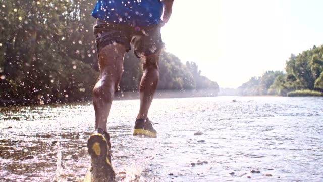 SLO MO Running in a shallow water