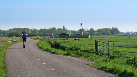running in holland - active lifestyle stock videos & royalty-free footage
