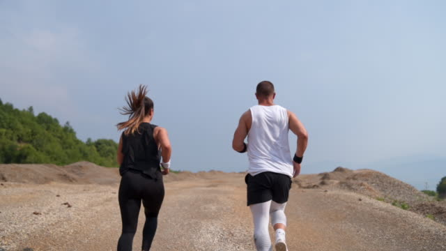running in quarry - cardiovascular exercise stock videos & royalty-free footage