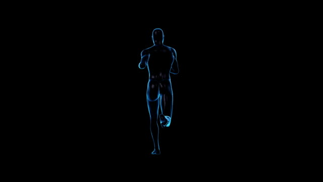 running man | back view | loopable - limb body part stock videos & royalty-free footage