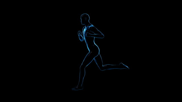 running man | loopable - limb body part stock videos & royalty-free footage