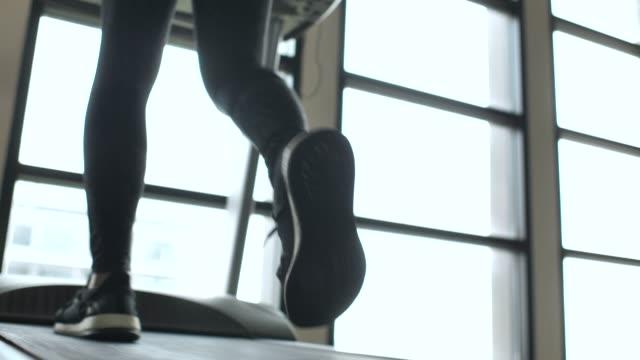 running of leg walking on treadmill - racewalking stock videos and b-roll footage