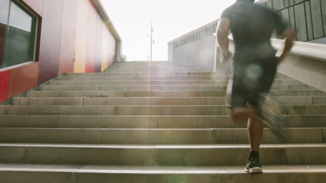 Running on the steps