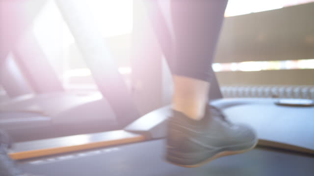 running on treadmill in gym - active lifestyle stock videos & royalty-free footage