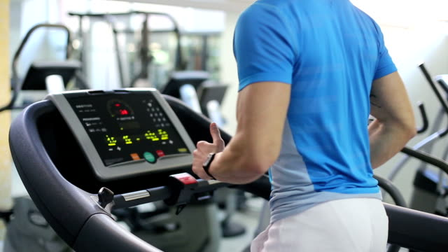 running on treadmill - gym stock videos & royalty-free footage