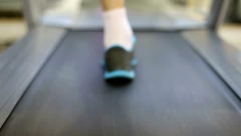 running on treadmill - treadmill stock videos & royalty-free footage