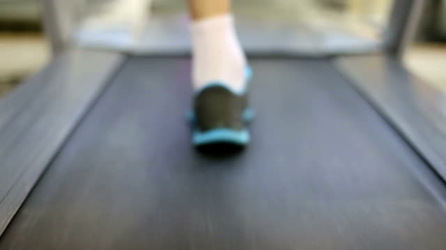 running on treadmill - treadmill stock videos & royalty-free footage
