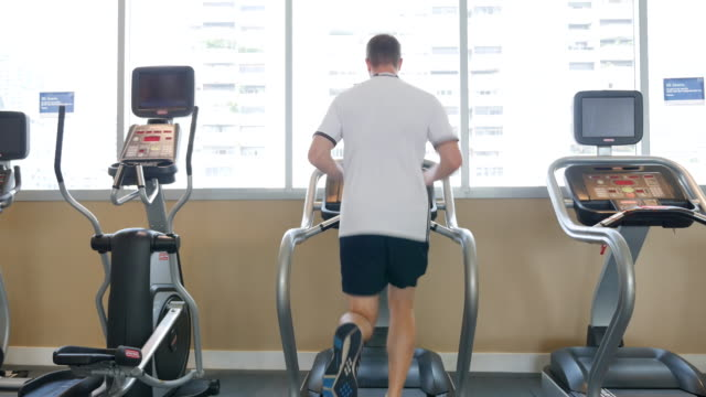 running on treadmill - exercise equipment stock videos and b-roll footage