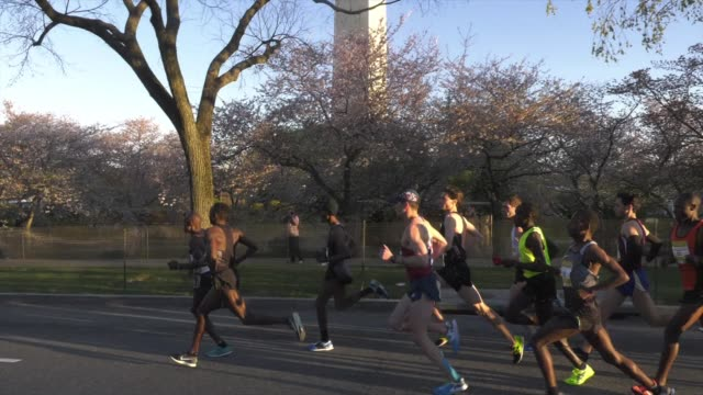 running race leaders in dc - salmini stock videos & royalty-free footage