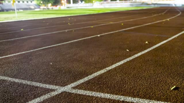 running track night scene
