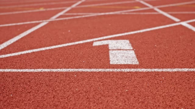 running track with lane one - number 1 stock videos & royalty-free footage