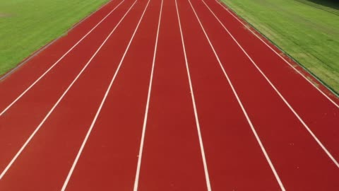running track with lanes,camera stabilization shot - sports track stock videos & royalty-free footage
