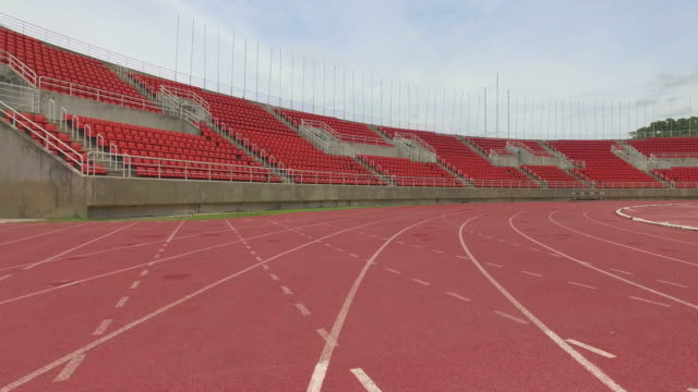 Running track with lanes,Camera Stabilization Shot