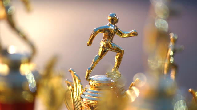 running trophies - award stock videos & royalty-free footage