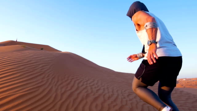running upwards sand dune - sand dune stock videos & royalty-free footage
