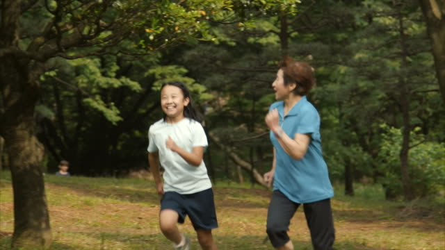 running with grandmother - only japanese stock videos & royalty-free footage