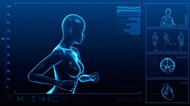 Running Woman | Digital Interface | Loopable