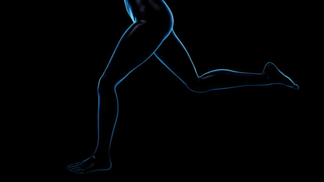 running woman | loopable - limb body part stock videos and b-roll footage