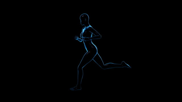 running woman | side view | loopable - limb body part stock videos & royalty-free footage