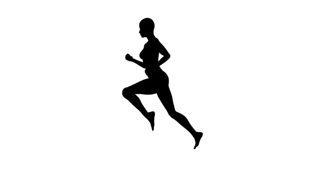 Running Woman | Silhouette | Loopable
