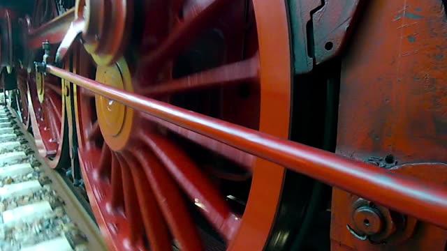 Runnning gear of a German steam locomotive class 23