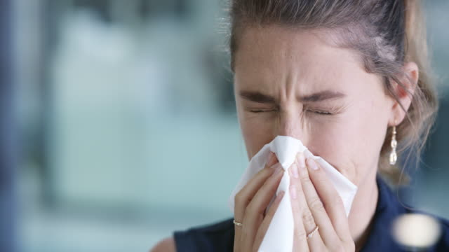 a runny nose could be a sign of the flu - rubbing stock videos & royalty-free footage
