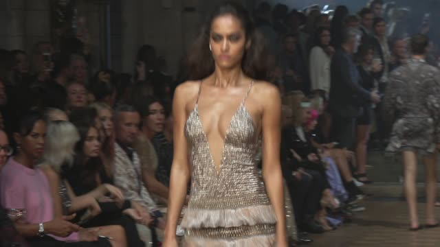runway at southwark cathedral on september 16 2019 in london england - fashion week stock videos & royalty-free footage
