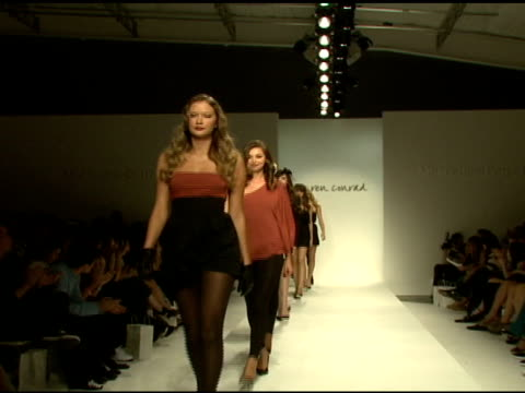 runway at the lauren conrad collection: mercedes-benz fashion week at smashbox studios in los angeles, california on march 11, 2008. - fashion collection stock videos & royalty-free footage