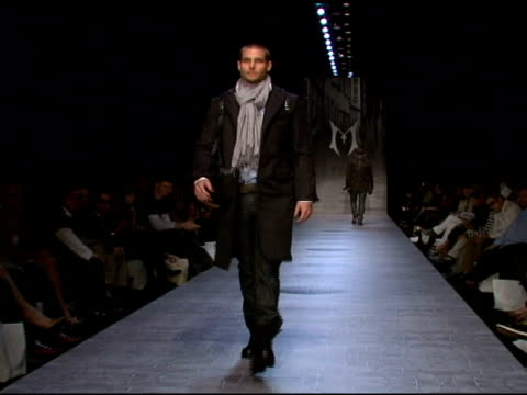 runway at the monarchy collection: mercedes-benz fashion week at smashbox studios in los angeles, california on march 13, 2008. - fashion collection stock videos & royalty-free footage