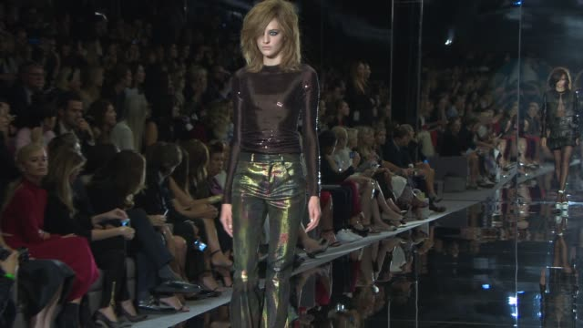 Runway at Tom Ford International SS15 at The Lindley Hall on September 15 2014 in London England