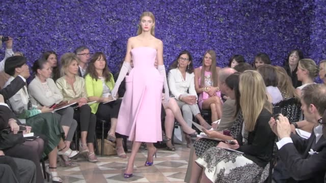 Runway of the Dior Fashion Show for the Haute Couture Fashion Week in Paris Runway of the Dior Fashion Show in Paris HC on July 03 2012 in Paris...