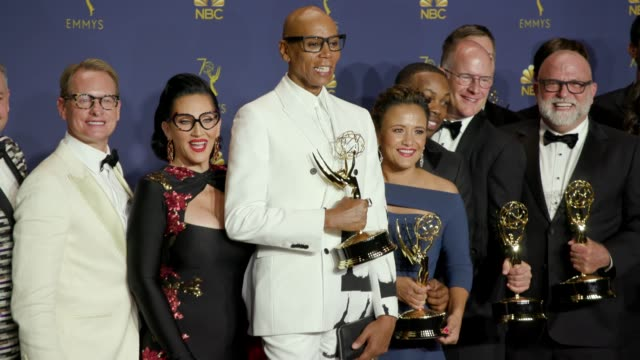 RuPaul and RuPaul's Drag Race at the 70th Emmy Awards Photo Room at Microsoft Theater on September 17 2018 in Los Angeles California