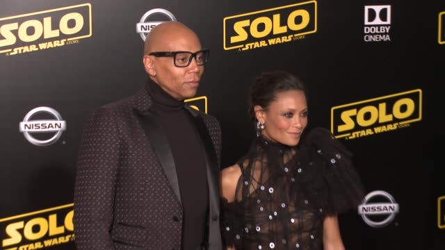"""rupaul and thandie newton at the """"solo: a star wars story"""" world premiere at the el capitan theatre on may 10, 2018 in hollywood, california. - el capitan theatre stock videos & royalty-free footage"""