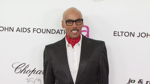 rupaul at the 18th annual elton john aids foundation oscar party at west hollywood ca. - oscar party stock videos & royalty-free footage