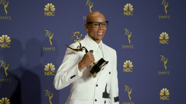 RuPaul at the 70th Emmy Awards Photo Room at Microsoft Theater on September 17 2018 in Los Angeles California
